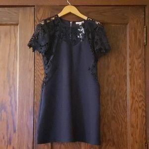 She and Sky Dresses - Blue lace detail dress